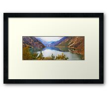 Seton Lake, British Columbia, Panorama Framed Print