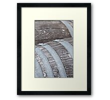 Wine Barrel Framed Print