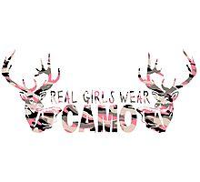 REAL GIRLS WEAR CAMO - DEER HUNTER Photographic Print