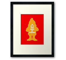 6 out of 7 dwarfs are extroverts Framed Print