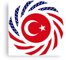 Turkish American Multinational Patriot Flag Series Canvas Print