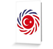 Turkish American Multinational Patriot Flag Series Greeting Card