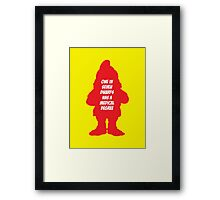 1 in 7 dwarfs has a medical degree Framed Print