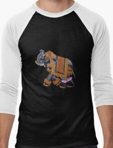 Indian Elephant Men's Baseball ¾ T-Shirt