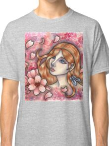 Mono no Aware - Girl with Cherry Blossoms Classic T-Shirt