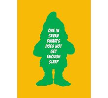 One in 7 dwarfs does not get enough sleep Photographic Print