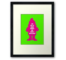 6 out of 7 dwarfs are highly intelligent Framed Print