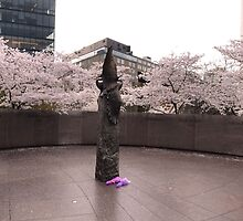 The Memorial to Japanese-American Patriotism in World War  II  by Matsumoto
