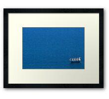 Single Voyage Framed Print