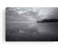 Black and White Seascape  Canvas Print