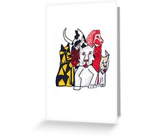 """Dogs of Lore"" Greeting Card"