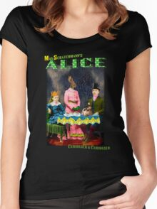 Max Scratchmann's ALICE - The Mad Hatter's Tea Party Women's Fitted Scoop T-Shirt