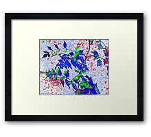 Red Tears of Climate Change Framed Print