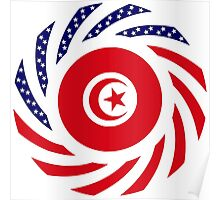 Tunisian American Multinational Patriot Flag Series Poster