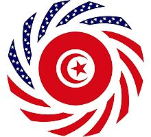 Tunisian American Multinational Patriot Flag Series Photographic Print