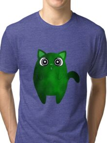 Tubby Toxic Waste Cat Tri-blend T-Shirt