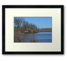Mississippi River stilt house ghost town Framed Print