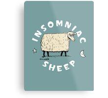 Insomniac Sheep Metal Print
