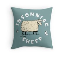 Insomniac Sheep Throw Pillow
