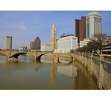 Columbus Skyline from the Town Street Bridge Photographic Print