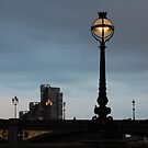 a look Through london with a lamp post by shakey123