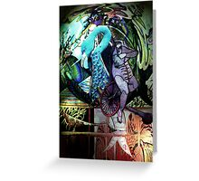 WATERCAGE-litho Greeting Card