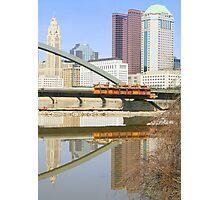 Columbus Skyline from New Main Street Bridge Photographic Print