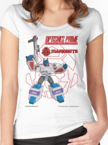 OptiSNES Prime: Leader of the Mariobots! Women's Fitted Scoop T-Shirt