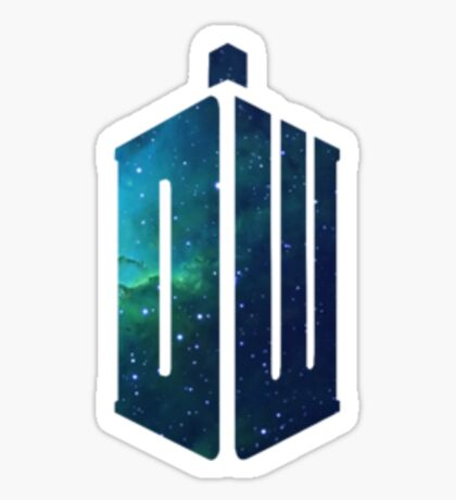 Galactic Doctor Who Logo Sticker
