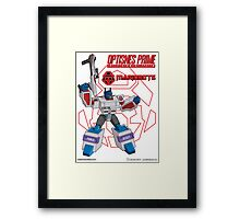 OptiSNES Prime: Leader of the Mariobots! Framed Print