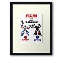 Transformers: Console Wars - OptiSNES vs. MegaGen! Framed Print