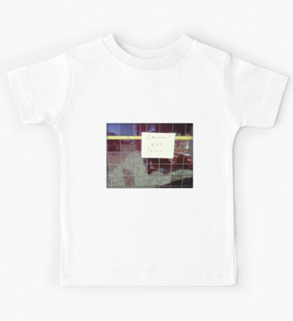 Silly Sign - Ceramic Tiles Kids Tee
