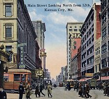 1922 Kansas City, MO Main Street looking North from 12th by Steve Sutton