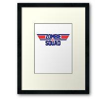 Zombie Squad — Top gun Framed Print