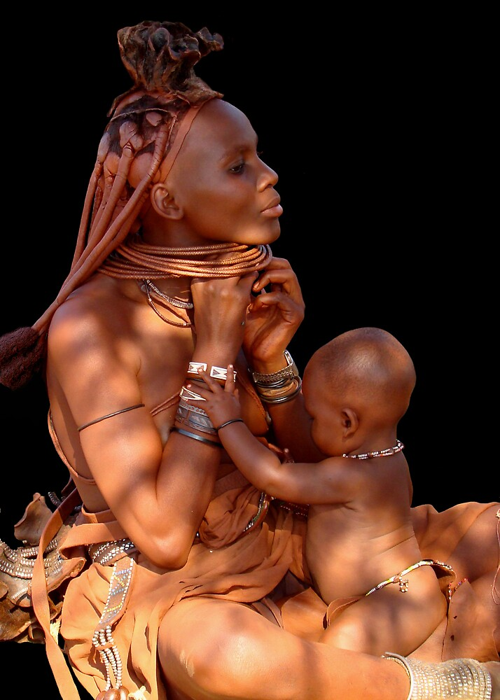 HIMBA MOTHER AND CHILD 3 by Michael Sheridan