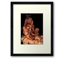 HIMBA MOTHER AND CHILD 3 Framed Print