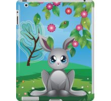 White Rabbit on Lawn iPad Case/Skin