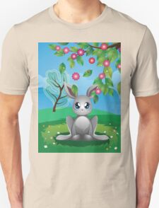 White Rabbit on Lawn T-Shirt
