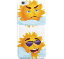 Sun with Different Emotions 3 iPhone Case/Skin