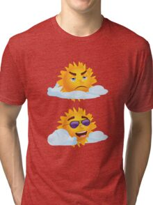 Sun with Different Emotions 3 Tri-blend T-Shirt