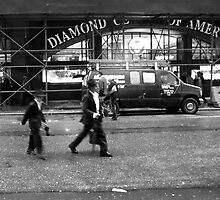 Little Diamond District  Boys New York -fine art photograph NYC by LJAphotography