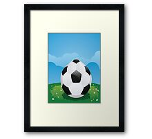 Soccer Ball Egg Framed Print