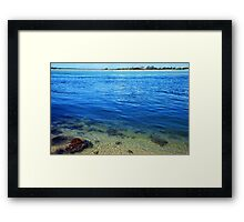 Ocean Layers Framed Print