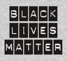 Black Lives Matter (Black Blocks Over White) Kids Clothes