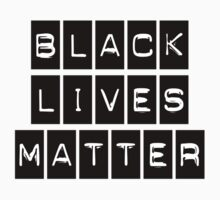 Black Lives Matter (Black Blocks Over White) Kids Tee