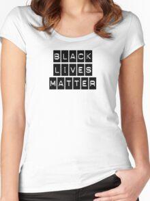 Black Lives Matter (Black Blocks Over White) Women's Fitted Scoop T-Shirt