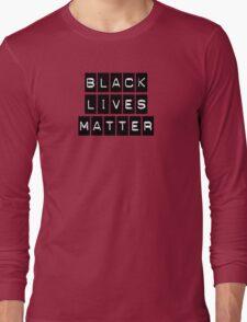 Black Lives Matter (Black Blocks Over White) Long Sleeve T-Shirt