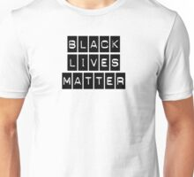 Black Lives Matter (Black Blocks Over White) Unisex T-Shirt