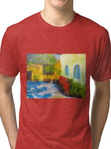 Tuscany Courtyard 2 Tri-blend T-Shirt