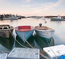 Dories Along Bass Harbor, Bernard, Maine by AaronLeclerc